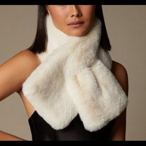 Love & Lore Ivory Faux Fur Pull Through Scarf